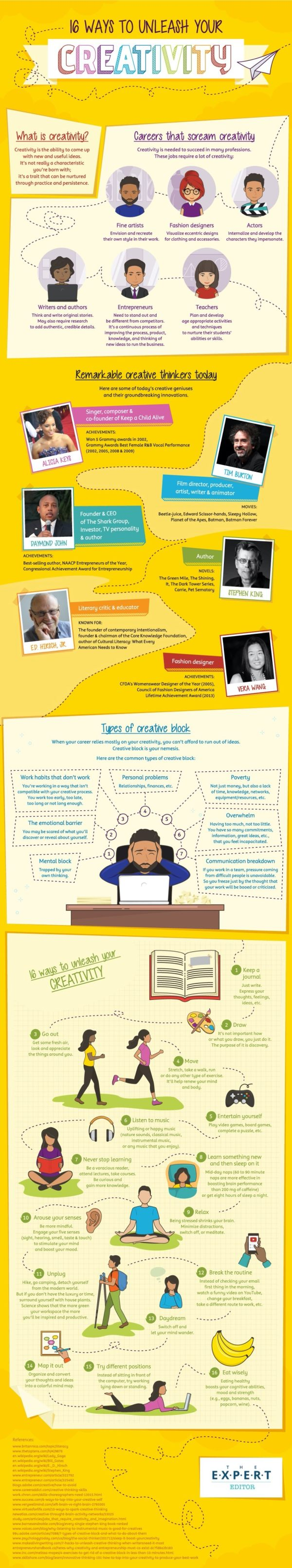 16 little things to boost your creativity - full infographic